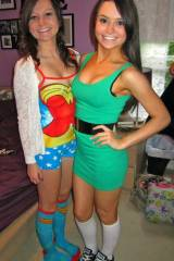 Wonder Woman and green dress.