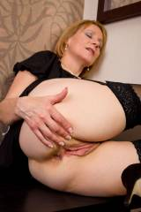MILF spreading her delicate parts