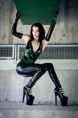Black and green (model: Devilish Angel)
