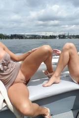 Milfs on a boat