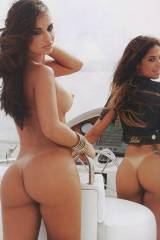 2 Beautiful Asses on the boat.