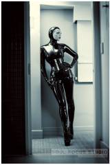 Jean Bardot, a vision in latex