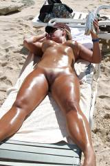 oiled and tanned
