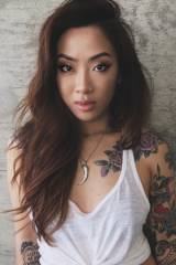 Cute girl with tattoos