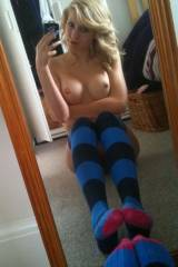 Striped Socks In The Mirror