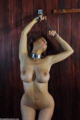 chained in the barn