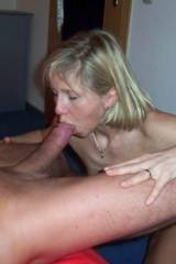 Blonde giving good head