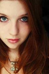 Intense beautiful redhead