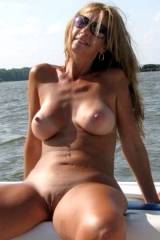 Thick, sexy MILF on a boat