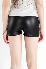 Sexy Shorts , Black Faux Leather