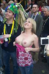 Flashing at Mardi Gras