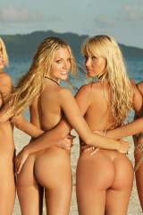 Four butts at the beach