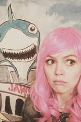 Aimee Teegarden with Pink Hair