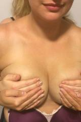 It takes four sets of hands to contain my wifes t...