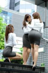 Asian office babes