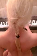 Playing the piano wearing only a ponytail. x-post ...