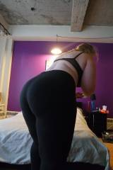[F] These yoga pants can barely hold my ass in!