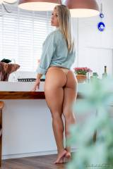 Blonde Brazilian with great thighs and ass