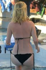 Alice Eve nice ass climbing out of pool