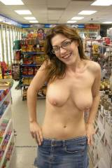 Topless in the store …