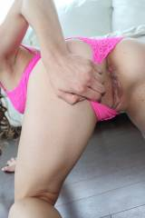 Pink Panties Pulled to the Side