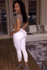Tight White Jeans