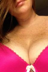 Great Milf bra covered tits... Wife is aprehensive...