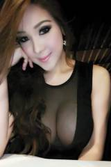 Big natural boobs for a Thai girl