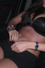 Massive Tits and undressing to get fucked in car