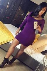 Plum Seamless Perfect Fit Dress from Hot Miami Sty...