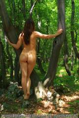 [F] Loretta Blake naked by the walking trail at La...