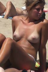 Sexy babe Topless Beach