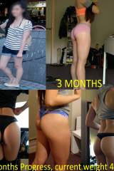 My squat progress, from skinny to fit :)