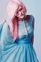 Pink Hair, Blue Dress