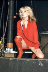 Debbie Harry performing (in her prime) on stage as...