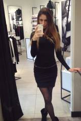 Checking herself out in the Wolford Store in her W...