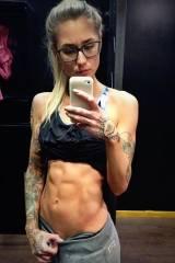 Glasses, ink, and abs