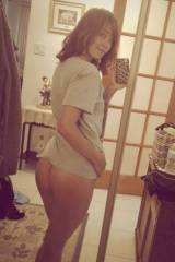 T-shirt no panties
