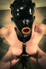Restrained oral fuckthing