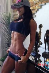 Michelle Lewin, baseball cap, tiny waist and perfe...