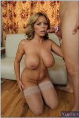 Huge breasted cougar has just finished off her pre...