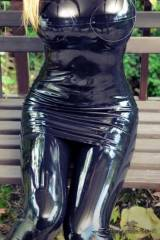 Think you can find shinier latex?
