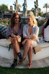 Rosie Jones and Jess Davies at Coachella