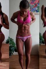 Three-way view of fitgirl Sandra Prikker