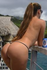 Babe with a beer