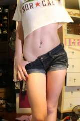 The gravitational force of her midriffs hotness h...