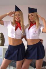 Military or flight attendant girls
