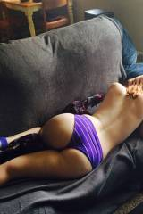 Purple Undies On the Couch
