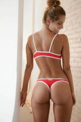 For Canada Day, a red & white bikini