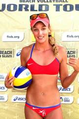 Beach volley player Anouk Verge Depre
